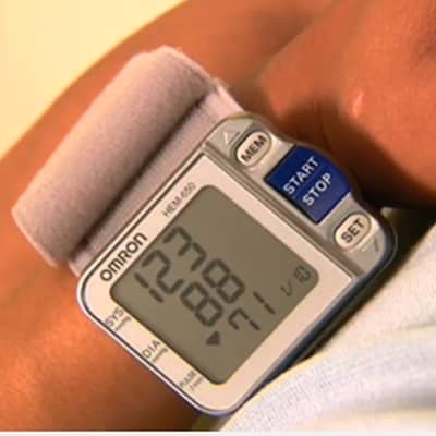A very popular wrist blood pressure monitor from Omron available at a discount from Amazon. Please use the link provided (left) to watch an Amazon video of this product.
