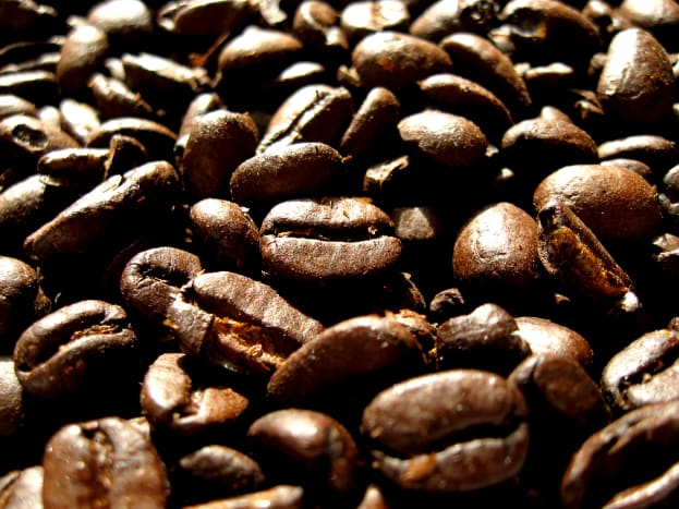 What a roasting picture of these coffee beans!