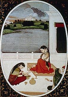 Painting of feet, Kangra School 1800 AD.