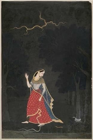 The Heroine Going to Meet Her Lover at an Appointed Place,