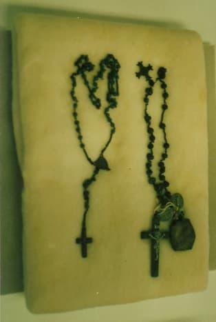 Rosary Beads from the Nagasaki bombing.