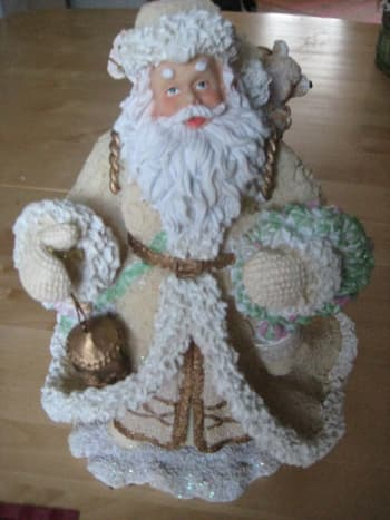 Just some random picture of Santa Claus ornament. Making sure that the light comes from behind me.