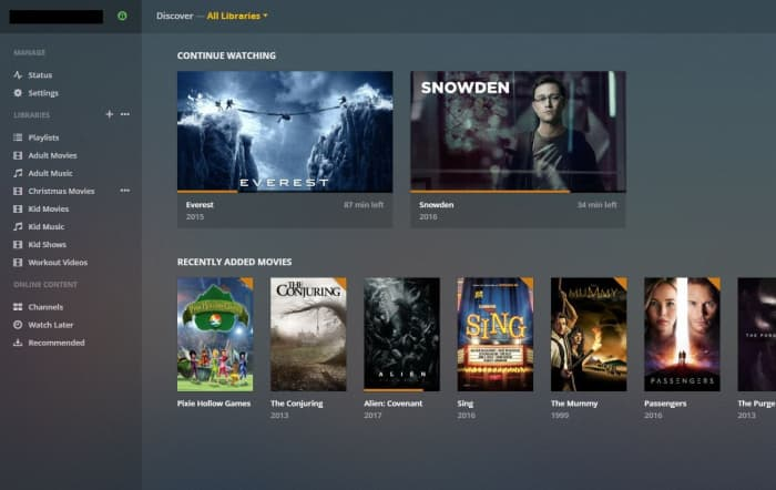 """Launch the Plex Media Server application on the computer where the application is located. Log in to Plex if prompted. Click the """"+"""" button to the right of Libraries."""