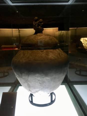 "A piece displayed at the ""Kaban ng Lahi"" (Archaeological Treasures)"