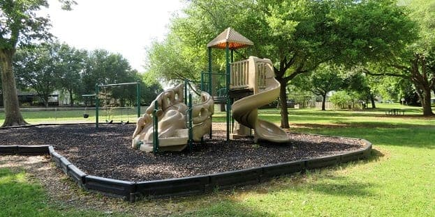 Small children's playground in the park