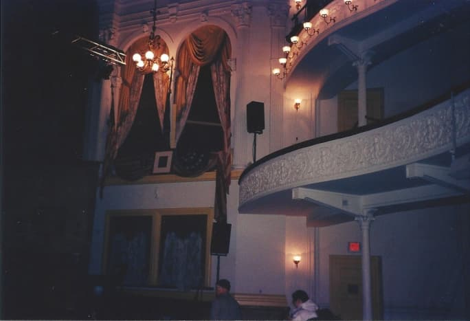 Inside Ford's Theatre, Balcony and President's box.