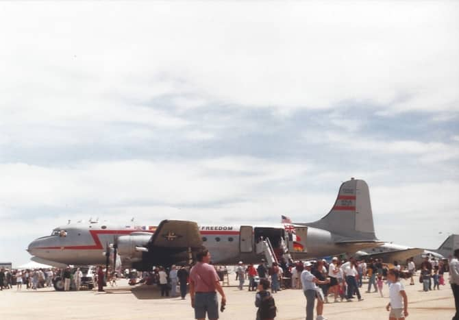 A C-54 painted to commemorate the Berlin Airlift, Joint Base Andrews, MD