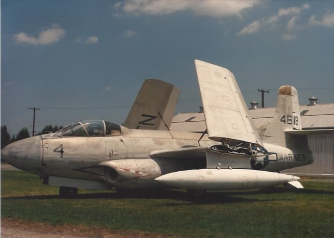 An FD3 Skyknight at Quantico Marine Base, 1989.