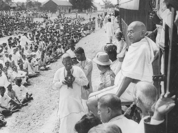 Gandhiji, the people's leader
