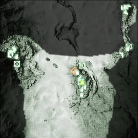 Map: Sangre Del Toro M-COM / Satellite Uplink 02.