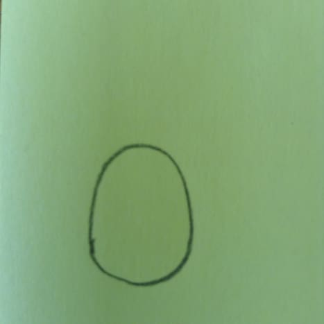 Start with an egg shape.