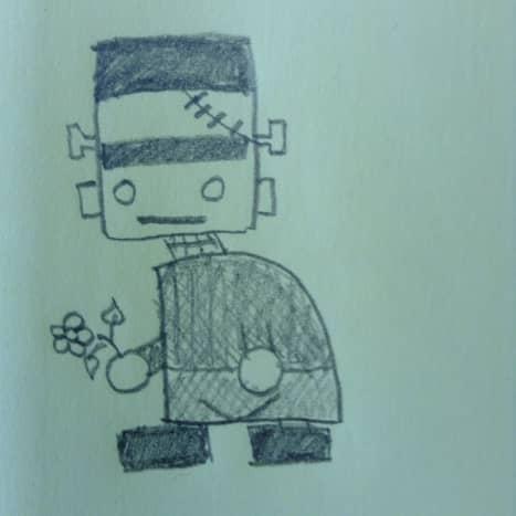 How to draw Frankenstein