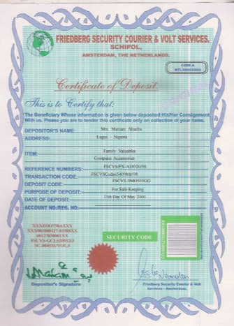 ignore this certificate it is fraudulent