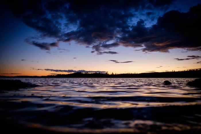 Dark sunset over Boundary Waters