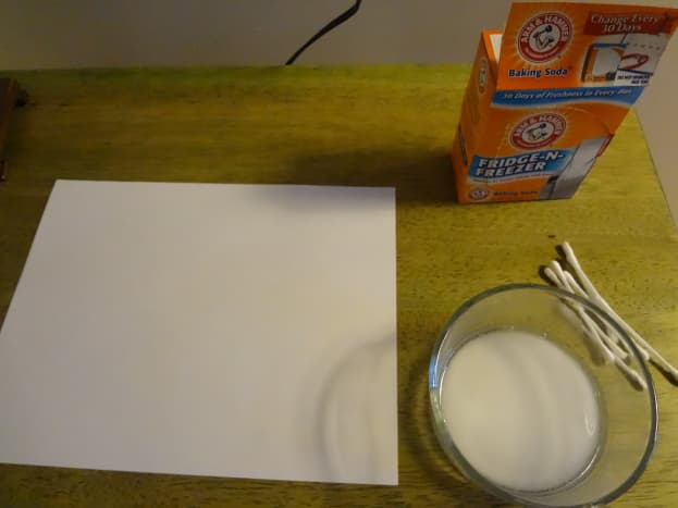 Baking soda mixed with water can be used to make an invisible ink.