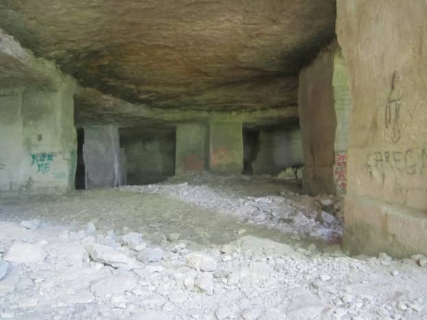 The quarry was extensive with many entrances, some nearly hidden by vegetation that had grown in over the years and others obvious, with many tunnels.