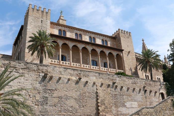 Exterior of the Royal Palace of Almudaina in Palma, Mallorca