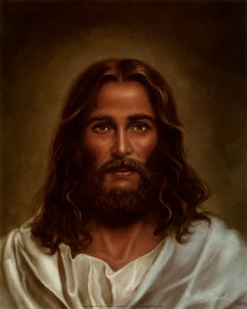 """Oil Painting by Ron Marsh, entitled """"Head of Christ"""", photo courtesy of allposters.com"""