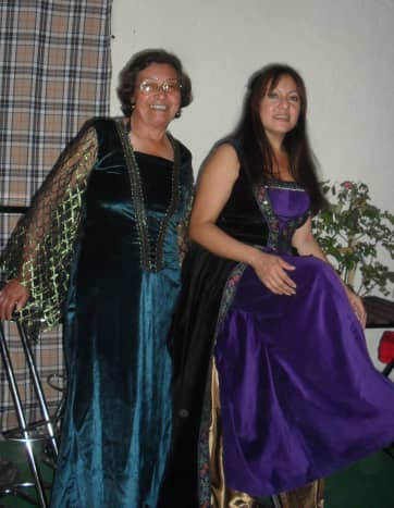 Wearing dresses from Halloween Costumes