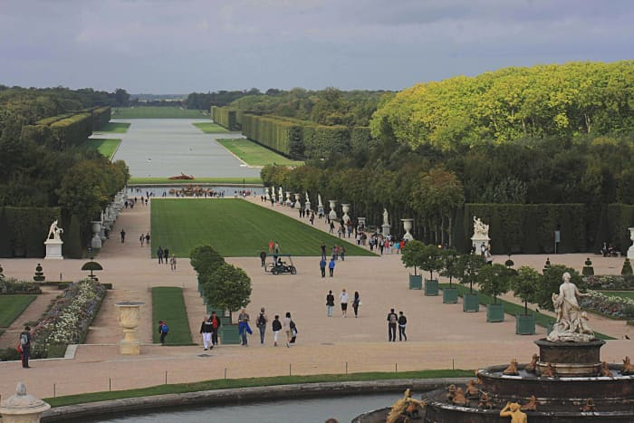 The Gardens of the Palace of Versailes, and the Grand Canal