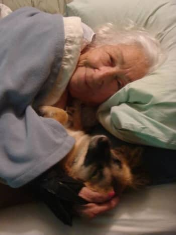Mom and rescue dog Rita have a special bond