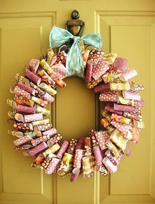 how-to-make-making-paper-wreaths-handmade-home-decoration-craft-ideas