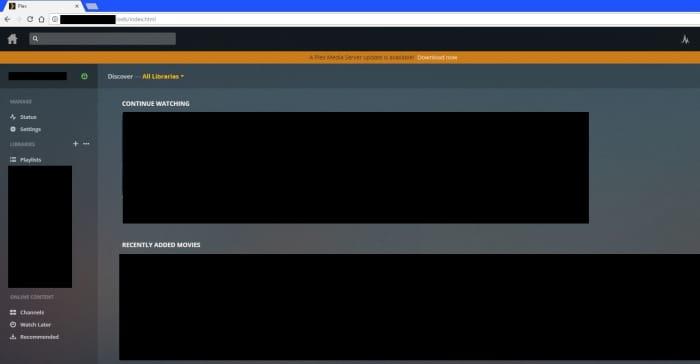 Open the Plex Media Server application.