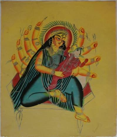 Ganesha in the lap of Parvati