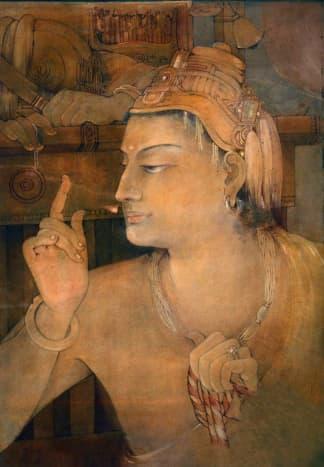 Bengal School Indian Painting -Parthasarathi (Krishna)