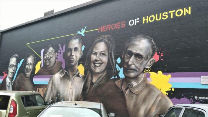 Shell Oil's Heroes of Houston Mural