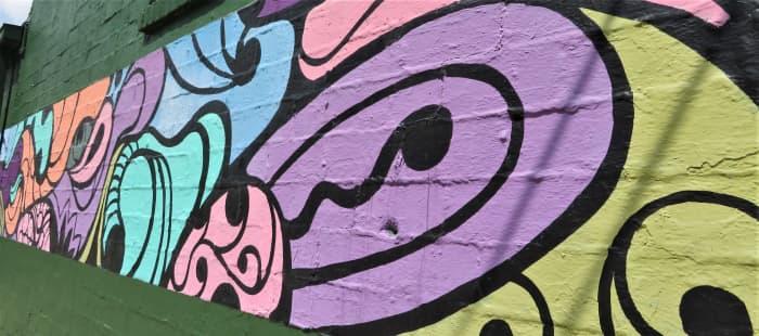 Portion of Bergner & Johnson mural