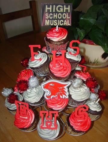 High School Musical Cupcake Tree