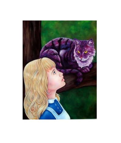 """""""Alice and the Cheshire Cat"""" by Chad Thomas"""