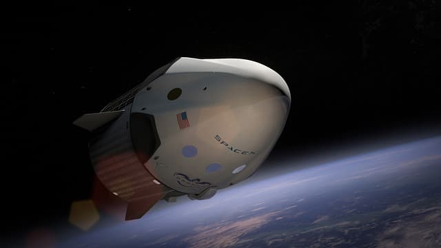 Outer space will provide untold numbers of new jobs. This ship is from SpaceX, contracted to take supplies and astronauts to the International Space Station and near-Earth asteroids.