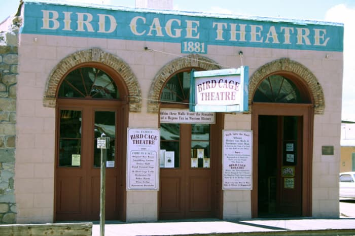 Here is the Birdcage Theater in Tombstone Arizona. And it is also reported to be one of the most haunted spots in Tombstone Arizona.