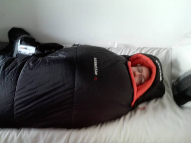 Getting Toasty testing out my Bionnassay -5 Sleeping Bag from Decathlon