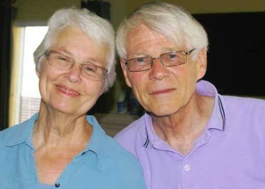 Our hosts and former pastor and his wife: Gordon and Barbara Van Enk