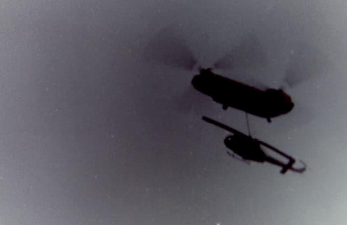 Helicopter photos taken in Vietnam