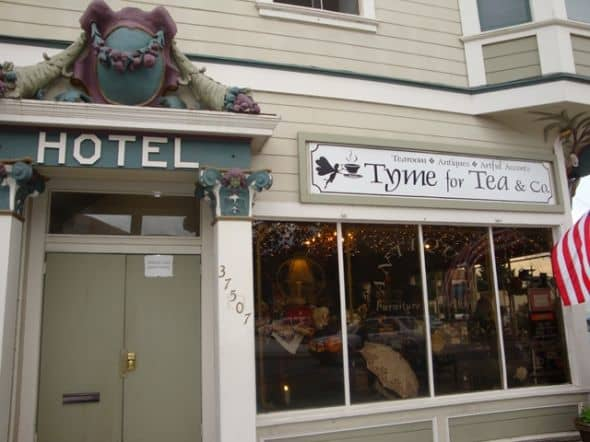 Tyme for Tea is also a tea shop chocked full of antiques, Victorian tea teapots and cups, vintage clothes, linens, furniture, hats, jewelry, picture frames, soaps, and just about anything that takes you back in time. Warm and friendly service plus th