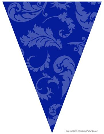 Blue floral graduation flag