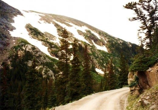 Traveling the old Fall River Road in the Sub-alpine ecosystem.