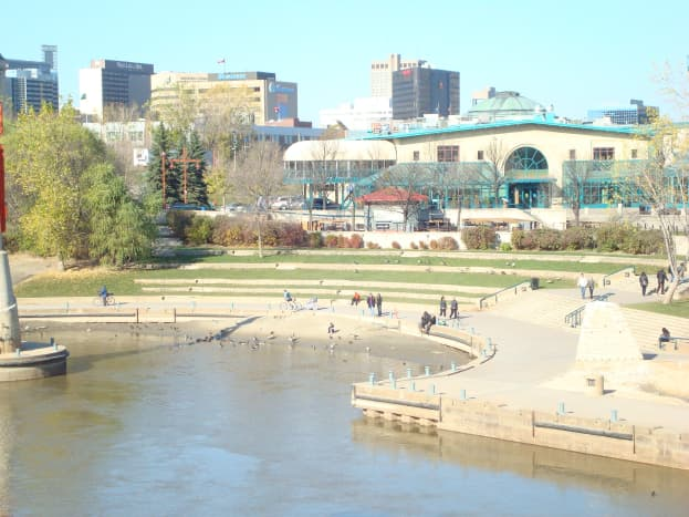 Assiniboine River waterfront