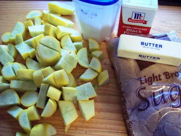 Ingredients to make succotash.