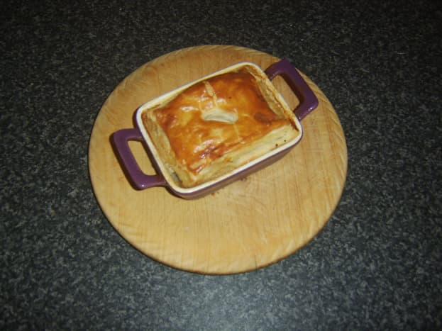 Oxtail and oyster pie must be rested when it comes out of the oven
