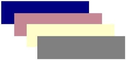 Navy blue, lipstick pink, cream and gray