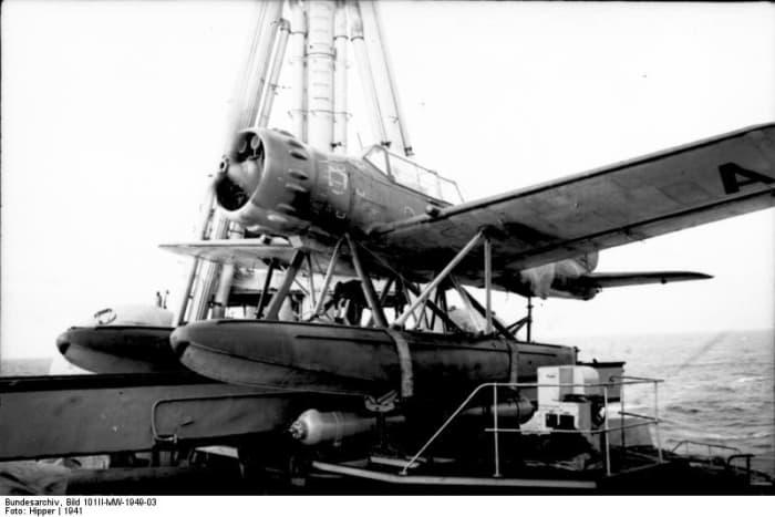 An Ar-196 on the Admiral Hipper