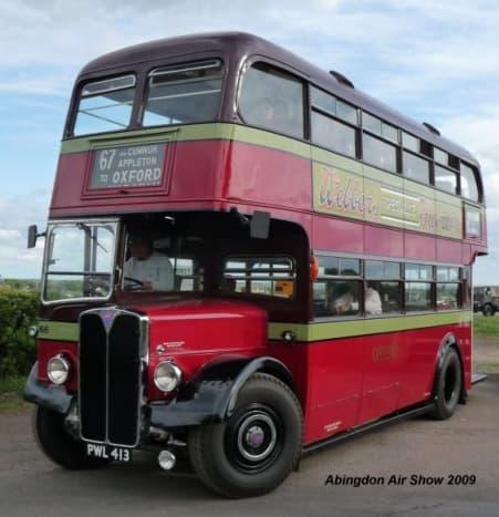 PWL 413 of Oxford Bus Museum Leaving Abingdon Air Show 2009 AEC Regent III 1950
