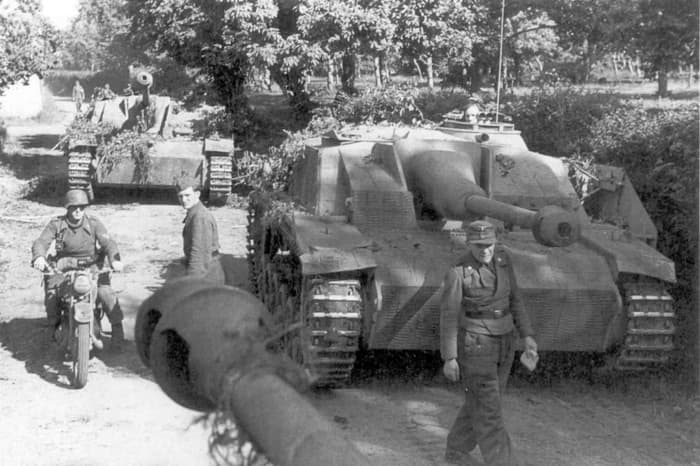 German tank destroyers with sloped armor and the 76mm long barrel cannon.  The German Sturmgeschutz III was their most effect tank killer used mostly on the Eastern Front.