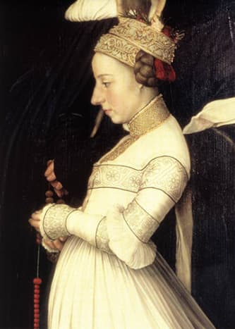 Detail from the Darmstadt Madonna