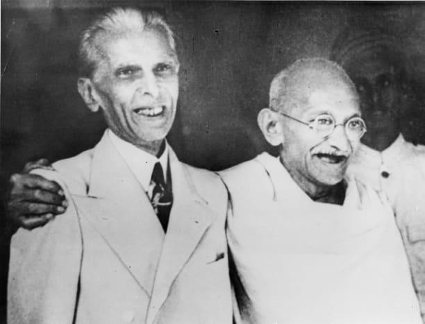 Jinnah with Gandhi in good mood (1944)